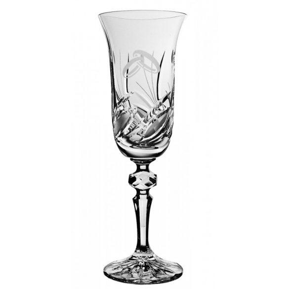 Viola * Lead crystal Flute for wedding (LGyű11920)