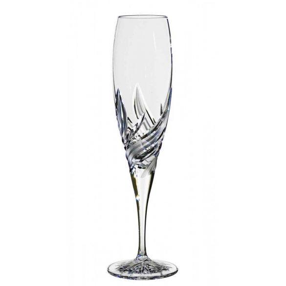Fire * Lead crystal Champagne glass 200 ml (F14407)