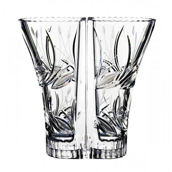 Viola * Lead crystal Love vase 22 cm (double) (Dupla16214)