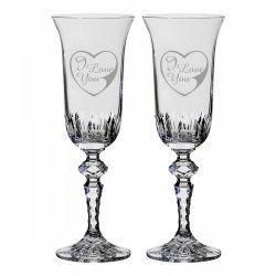 Other Goods * Lead crystal Romantic champagne glass set of 2 (16431)