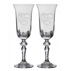 Other Goods * Lead crystal Romantic champagne glass set of 2 (16432)