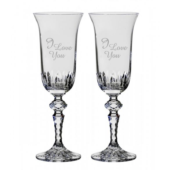 Other Goods * Lead crystal Romantic champagne glass set of 2 (16433)
