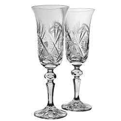 Laura * Crystal Champagne flute set of 2 for weddings (17398)