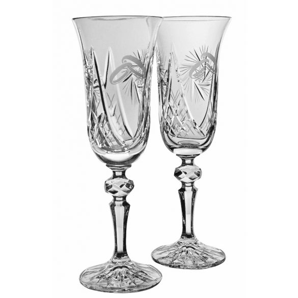 Victoria * Crystal Champagne flute set of 2 for weddings (18098)