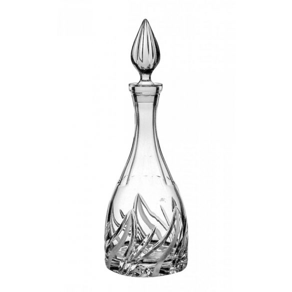 Fire * Crystal Peaked wine bottle 1000 ml (H18666)