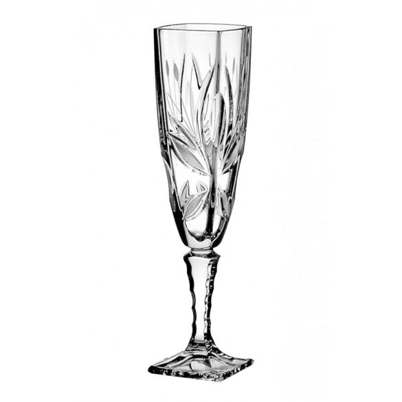 Viola * Crystal Champagne flute glass 140 ml (Ar19507)