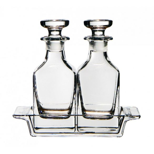 Primavera * Lead crystal Oil and vinegar set of 3 (Primavera39714)