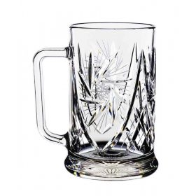 Crystal beer glass, mug